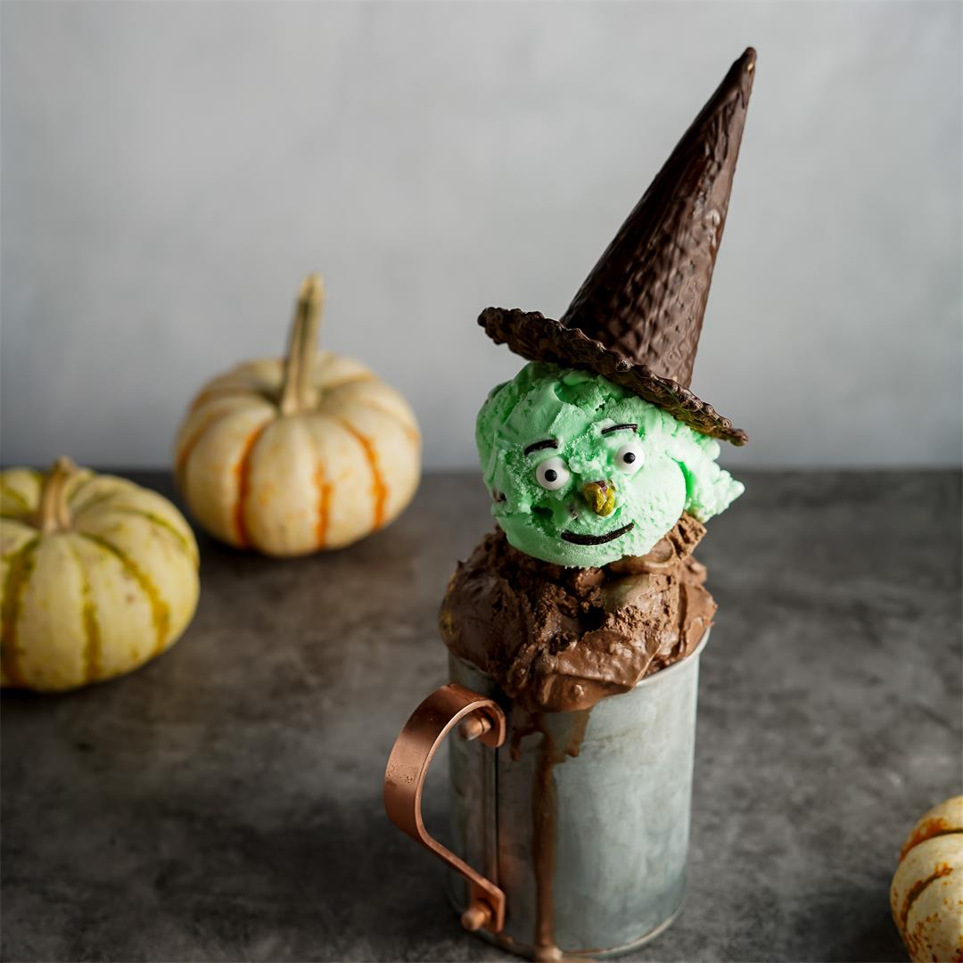 Halloween Ice Cream Sundaes