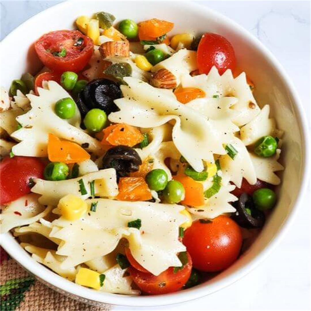 Easy vegan pasta salad