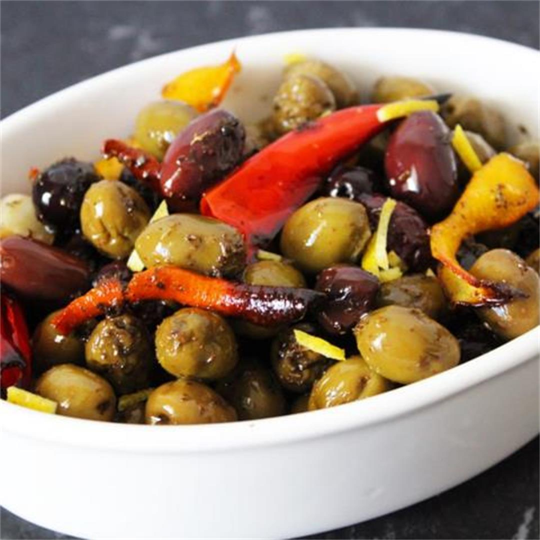Roasted Mediterranean Olives - It's Not Complicated Recipes