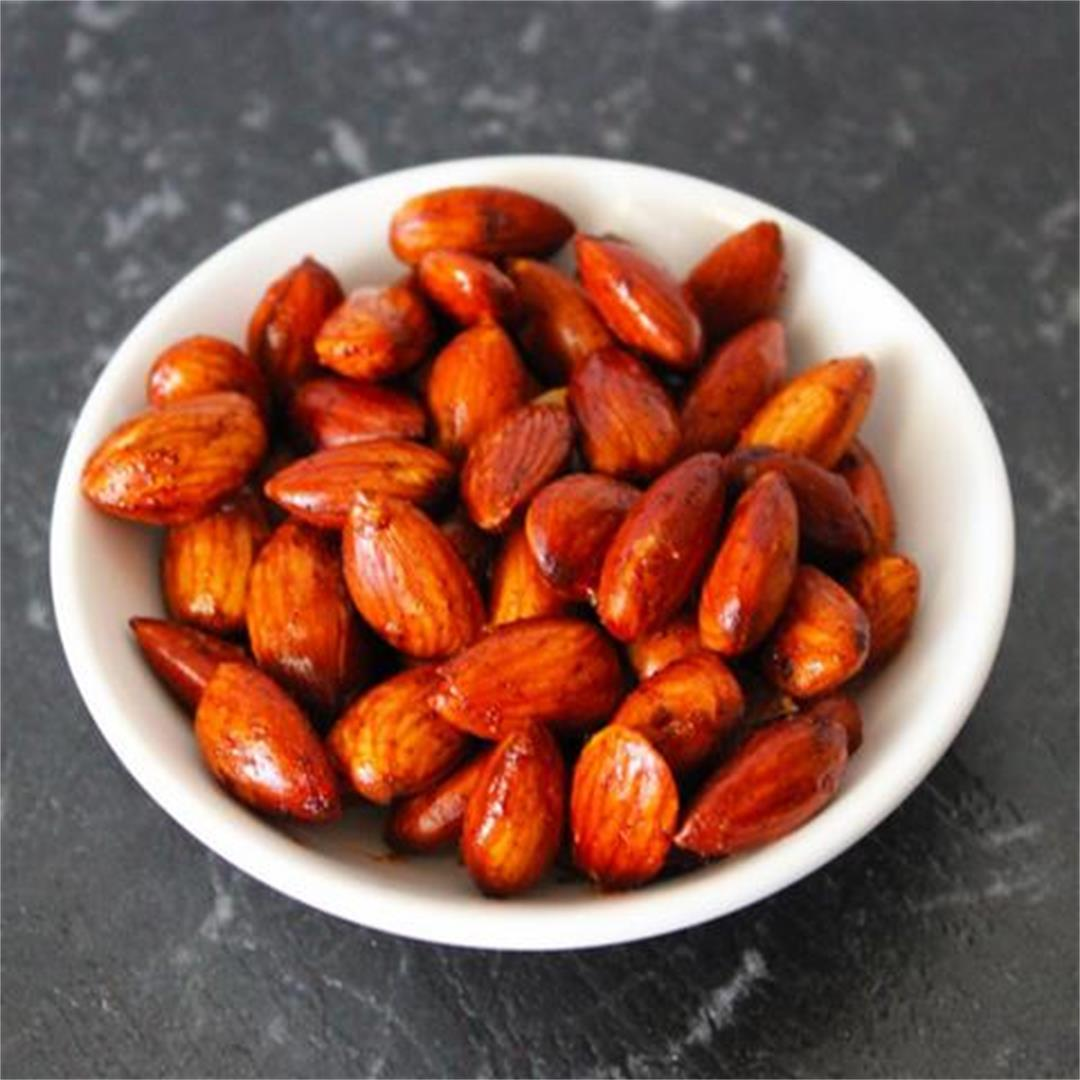 Spicy Roasted Almonds - It's Not Complicated Recipes