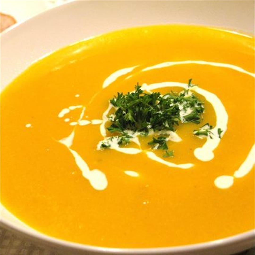 Quick And Easy Creamy Pumpkin Soup Recipe