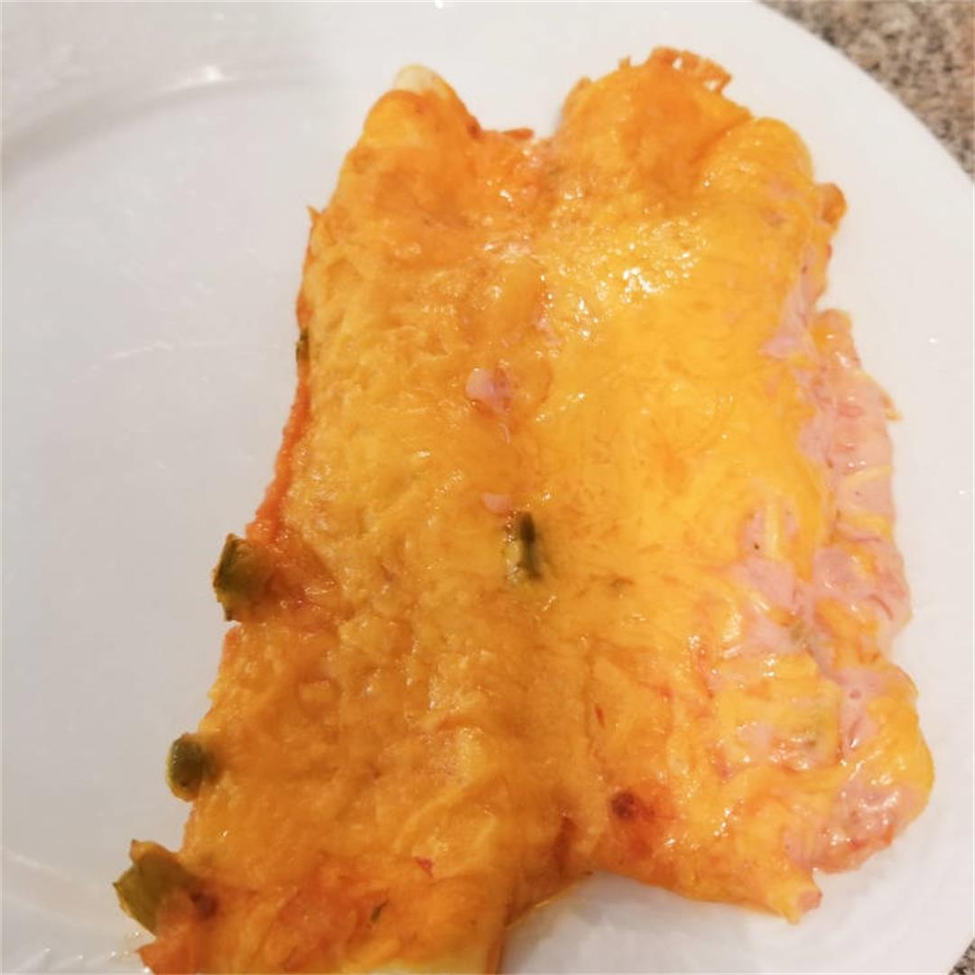 Salsa Ranch Chicken Enchiladas