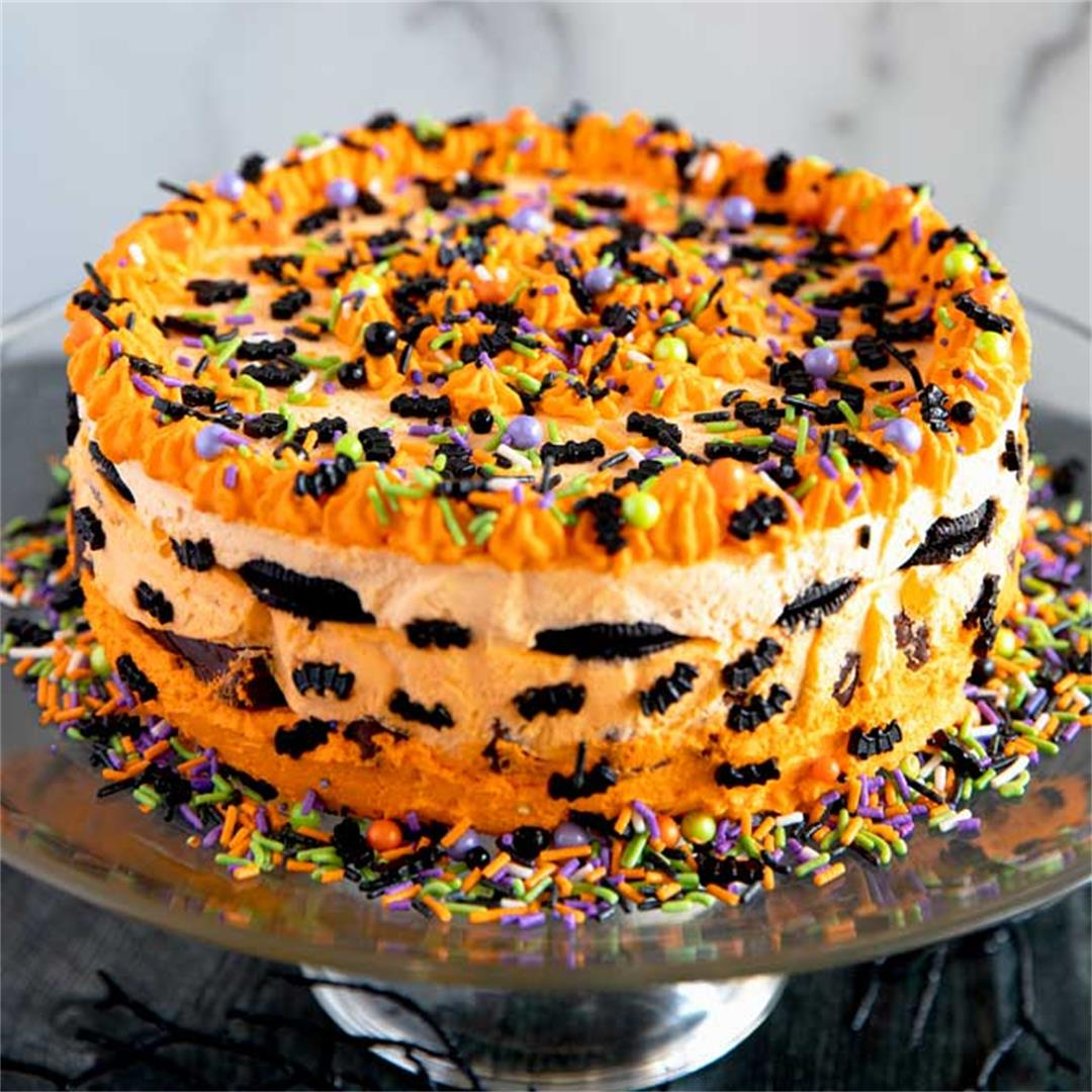 Halloween Icebox Cake #HalloweenTreatsWeek