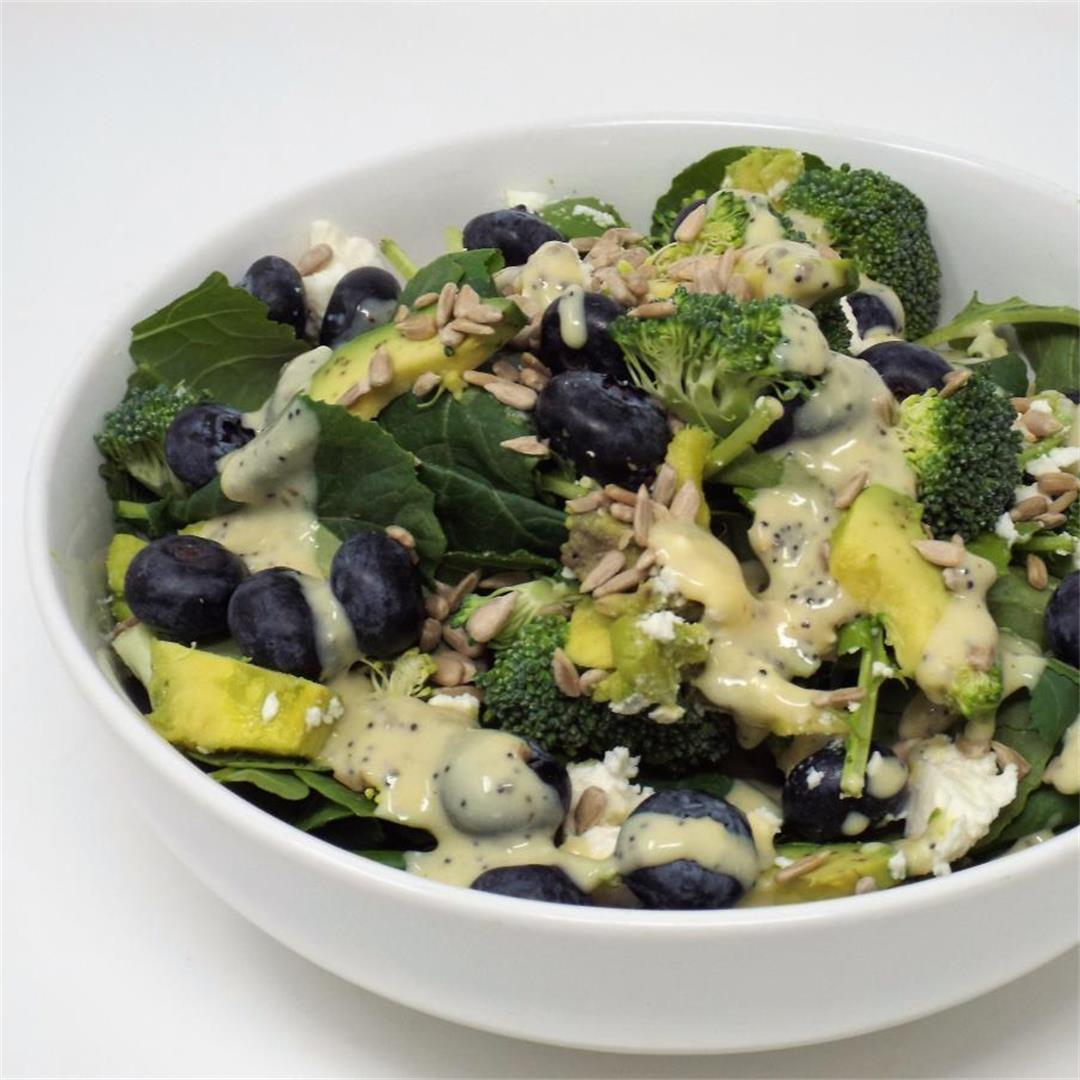 Blueberry, Broccoli, and Kale Salad