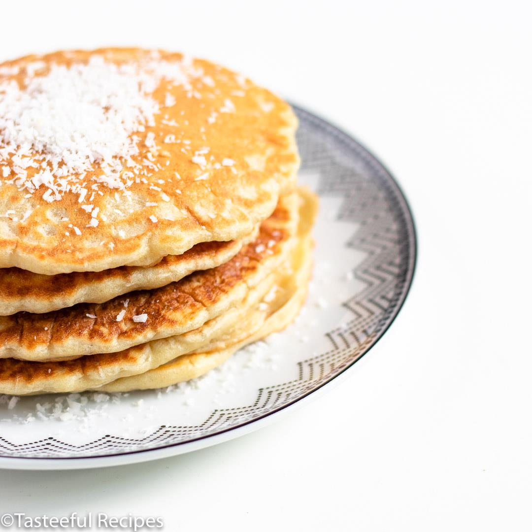 Fluffy Coconut Milk Pancakes