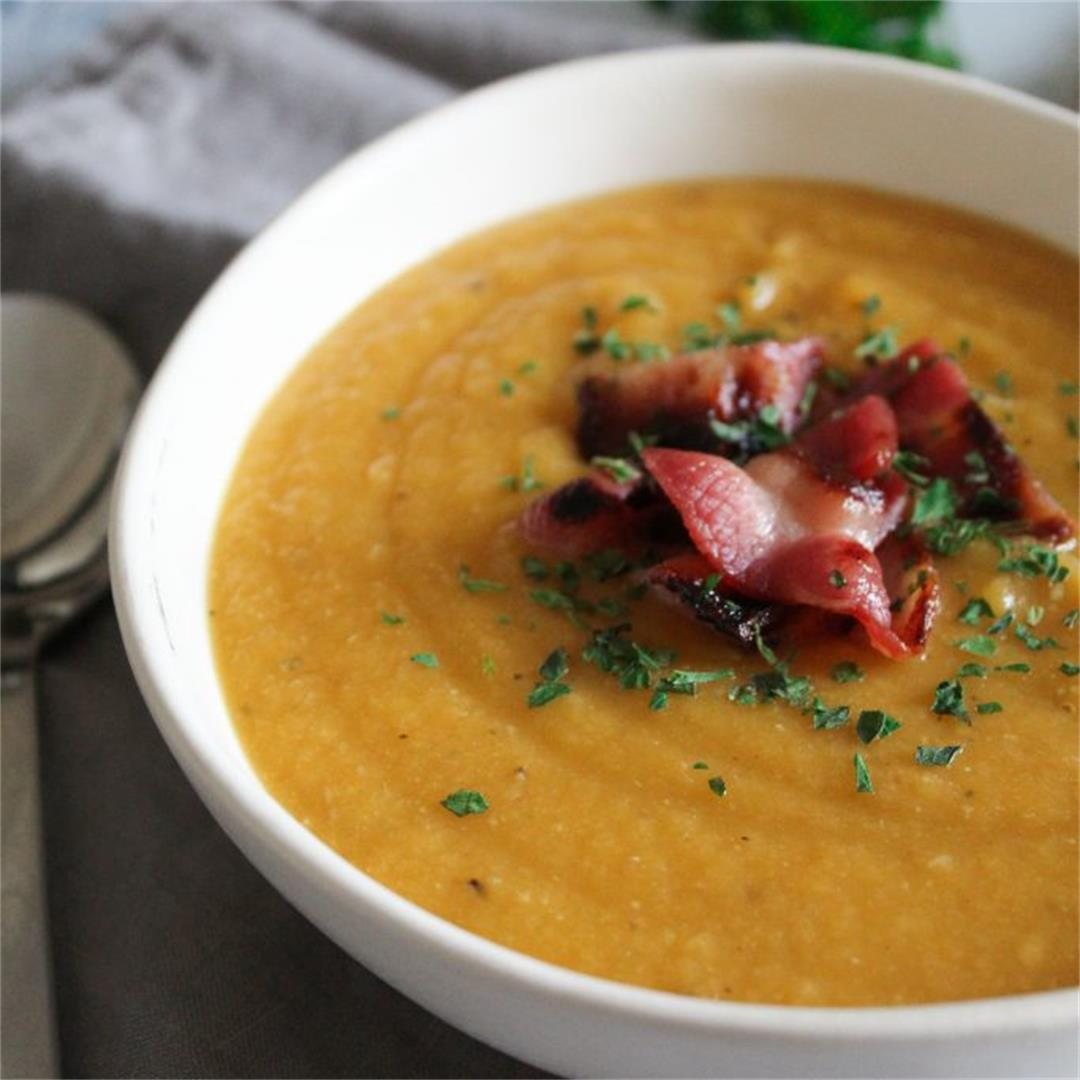 Red Lentil Soup with Bacon