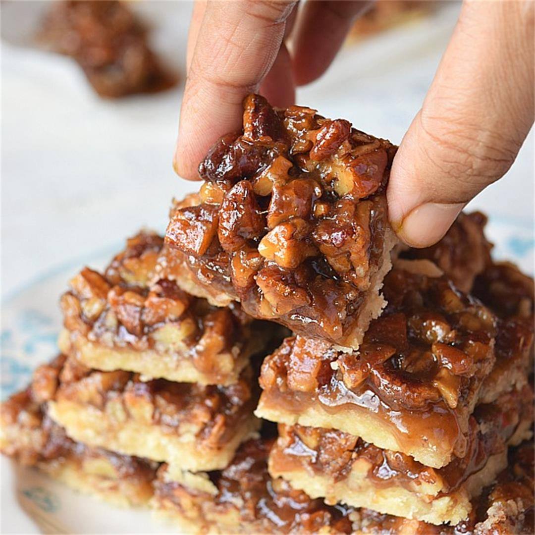 The Best Pecan Shortbread Bars {Of All Time}