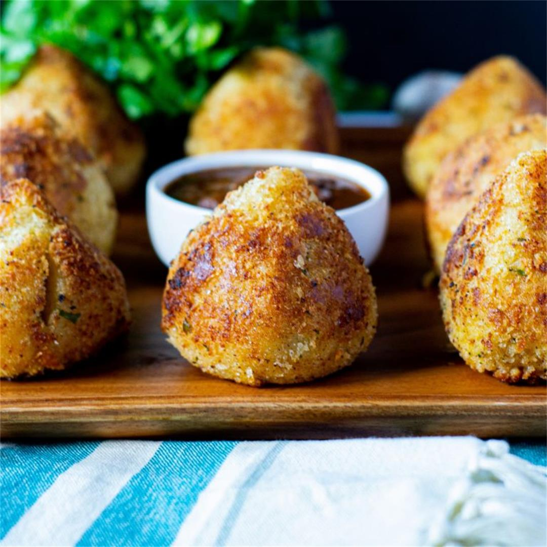 Brazilian Chicken Coxinhas