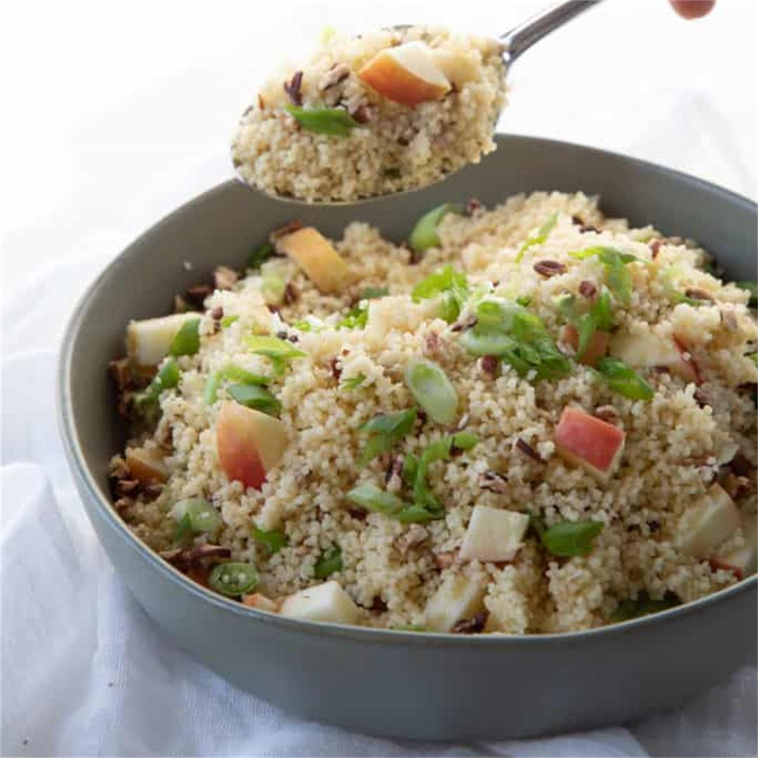 Couscous with Apples and Pecans