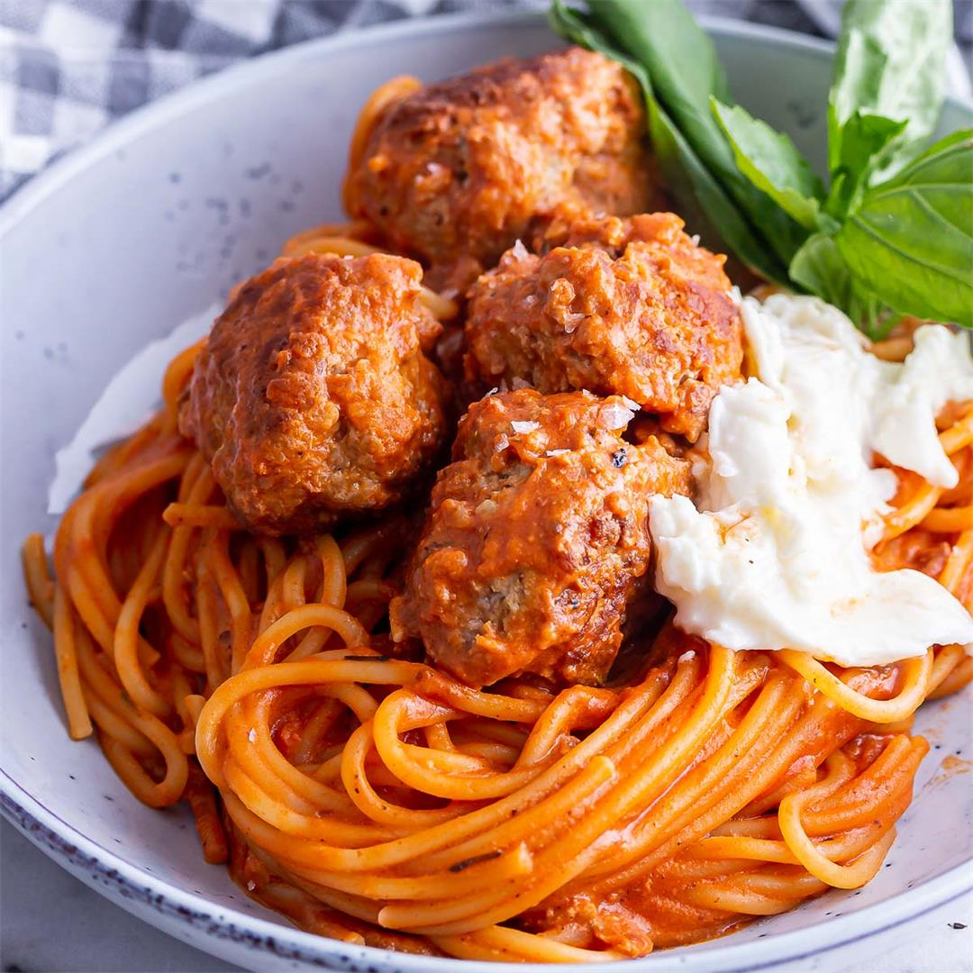 Turkey Meatballs with Spaghetti • The Cook Report