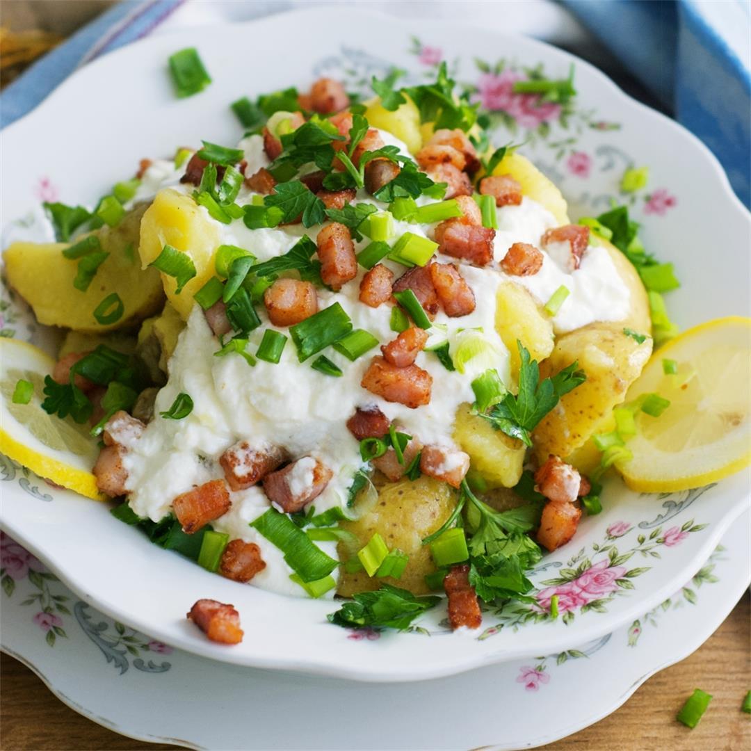 Greek Yogurt Potato Salad (With Lemon)