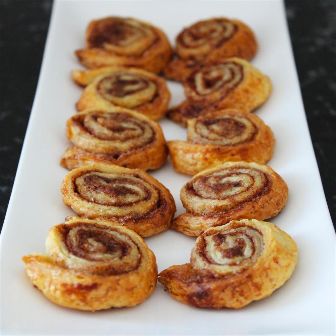 Cinnamon Sugar Puff Pastry Pinwheels - It's Not Complicated Rec