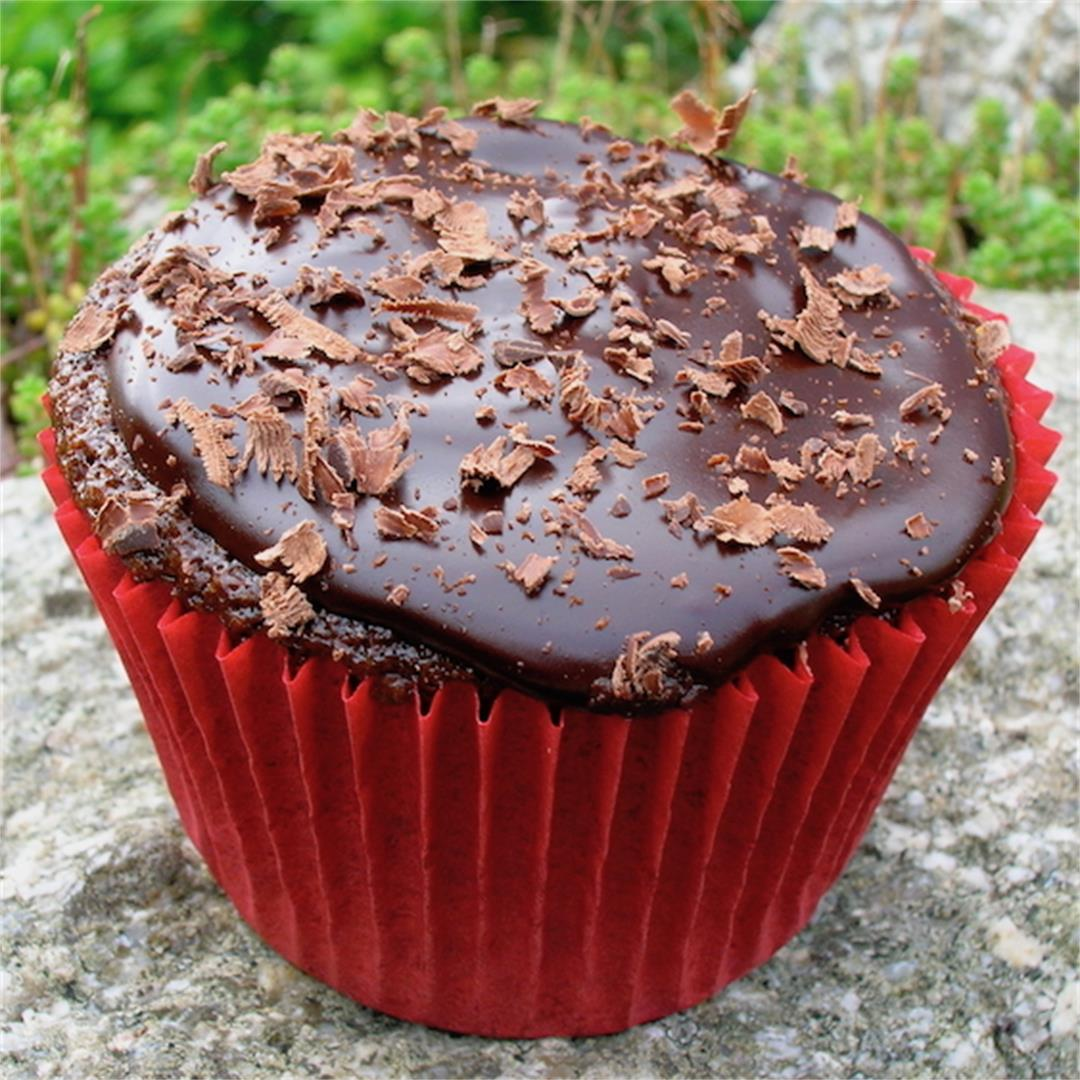 Chilli Chocolate Cupcakes with Dark Chocolate Ganache