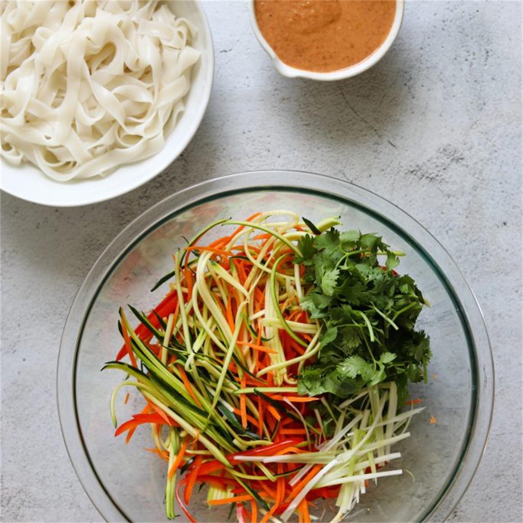 Creamy Coconut Thai Noodle Salad