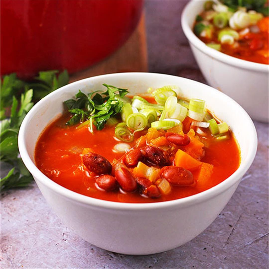 Deliciously healthy fresh pumpkin soup