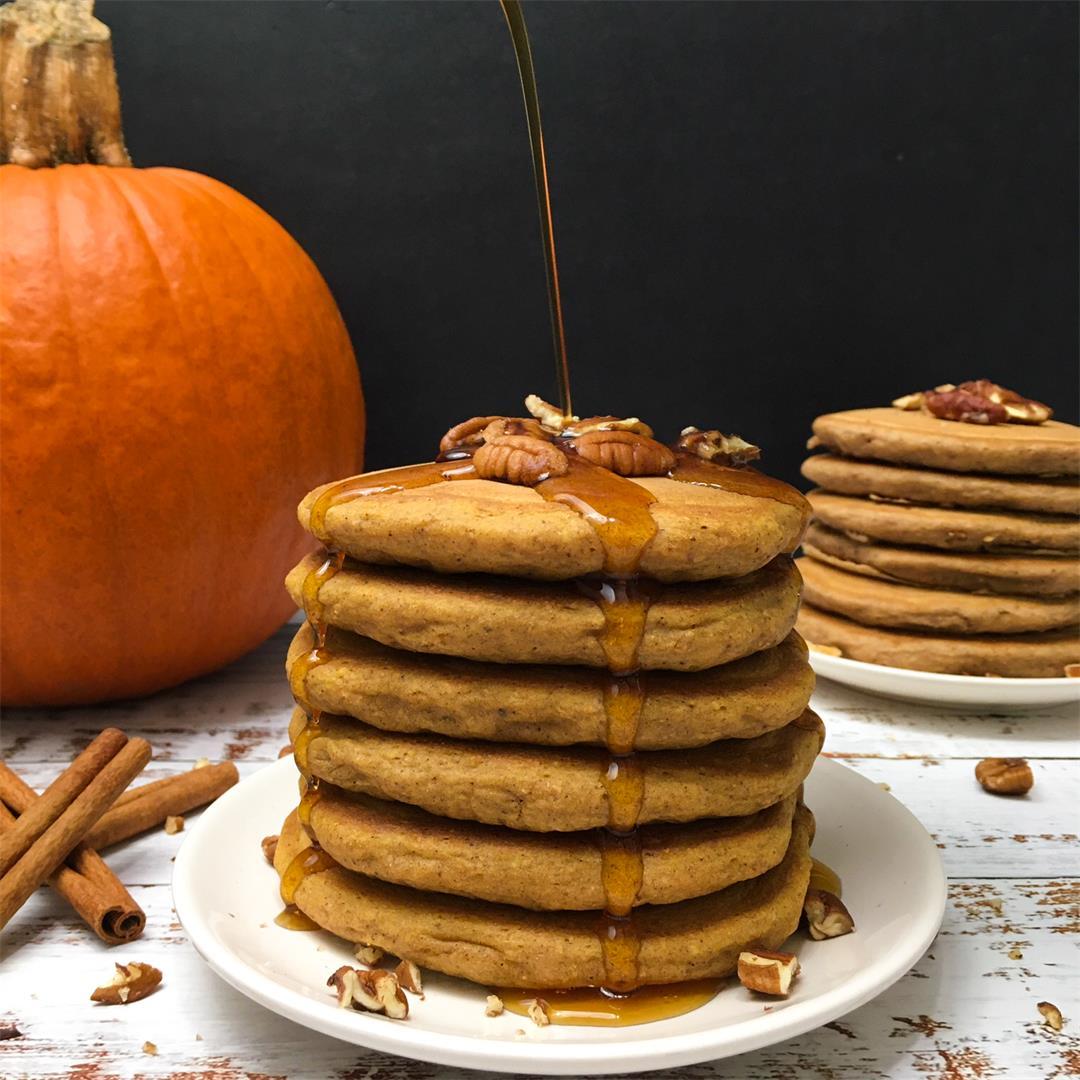 Whole Wheat Pumpkin Spice Pancakes