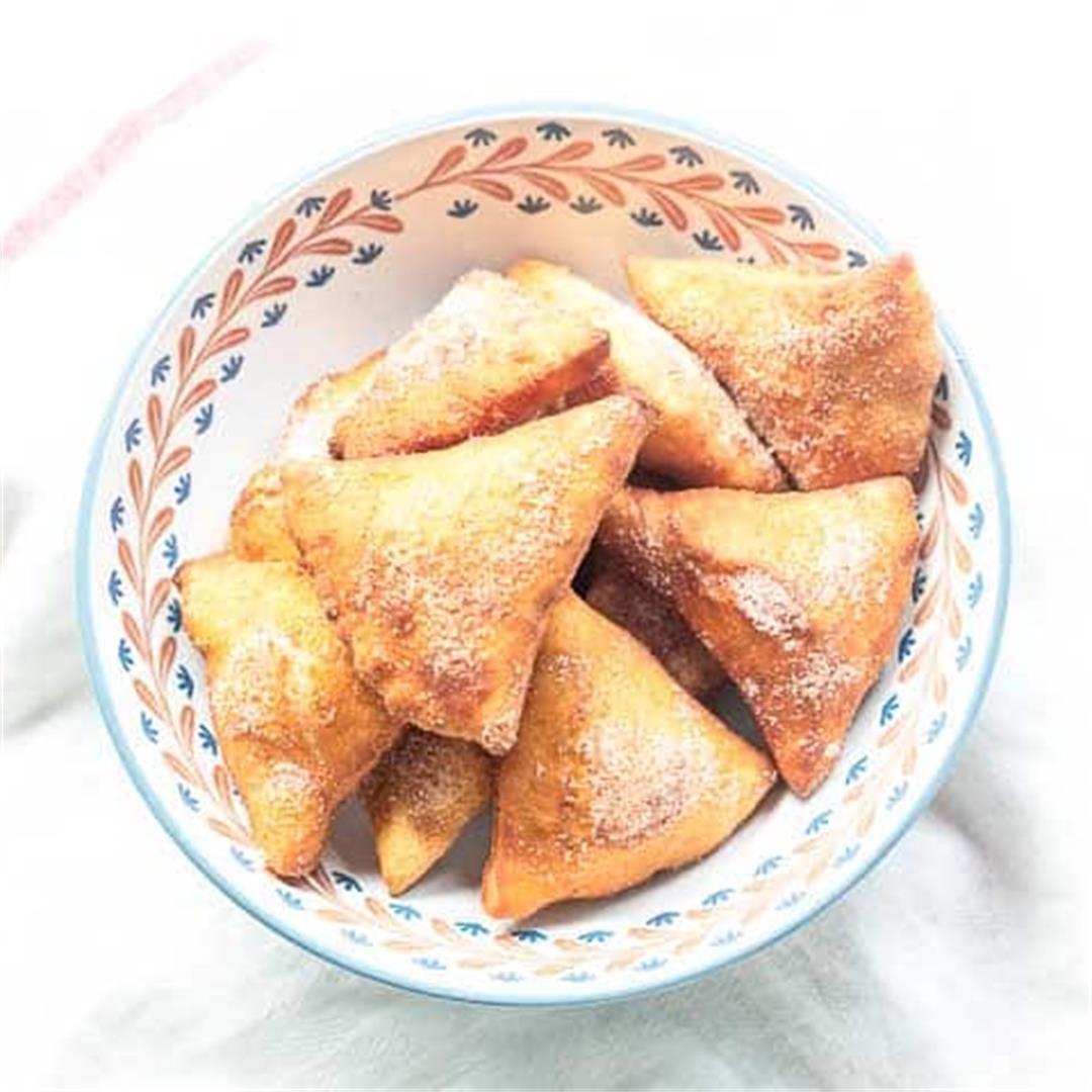 Fried sopapillas with cinnamon sugar