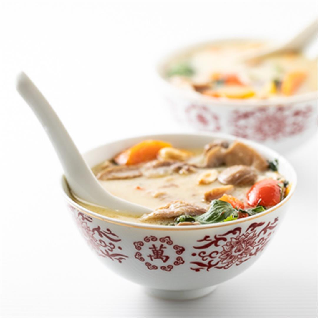 The Best Slow Cooker Thai Chicken Soup!