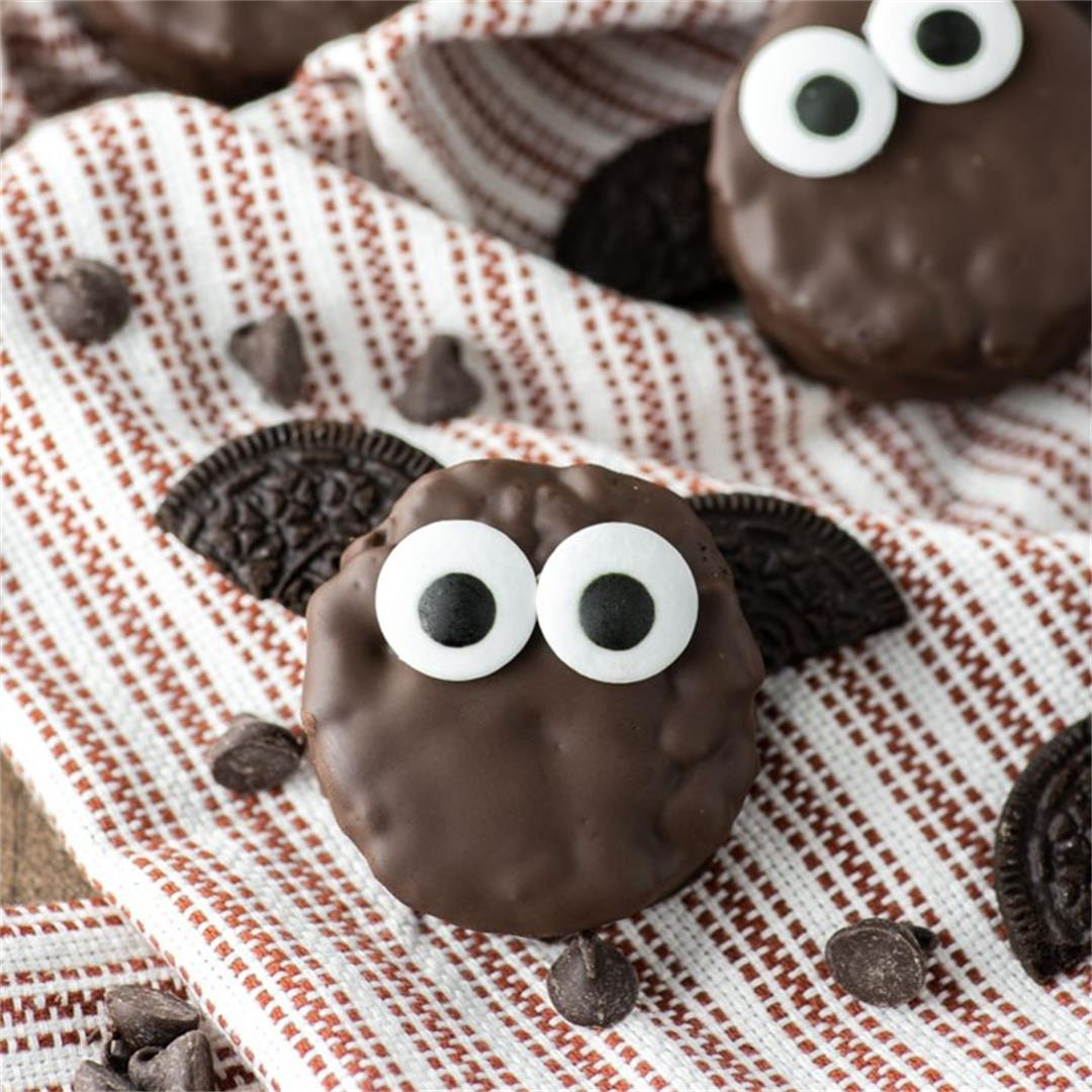 Chocolate Covered Rice Krispies Bat Treats