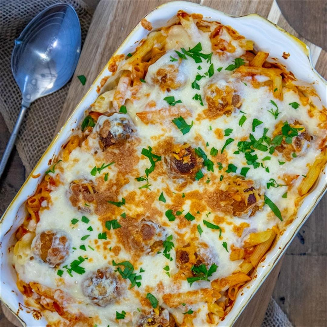 4 Ingredient Meatball Casserole