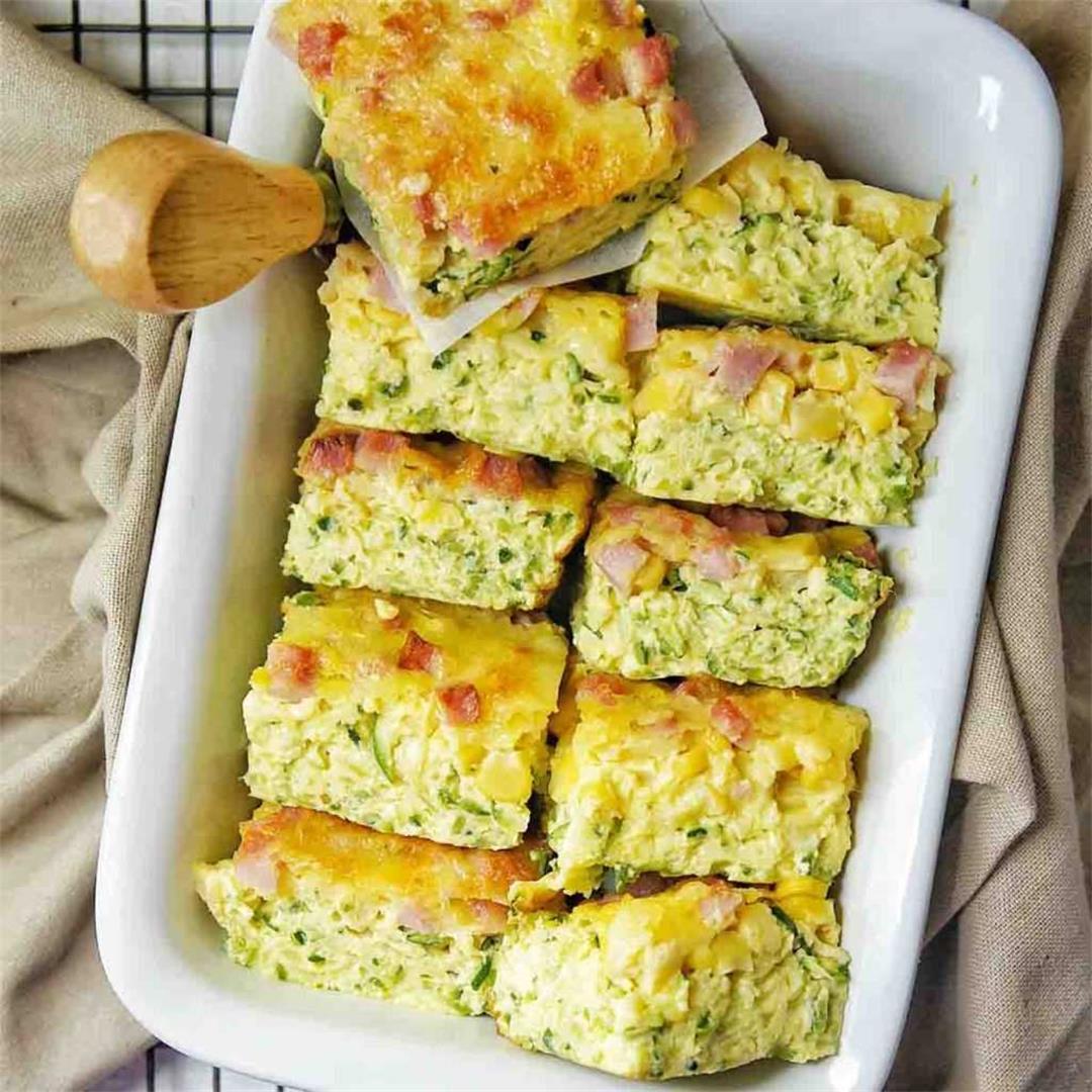 Zucchini Slice Egg recipe