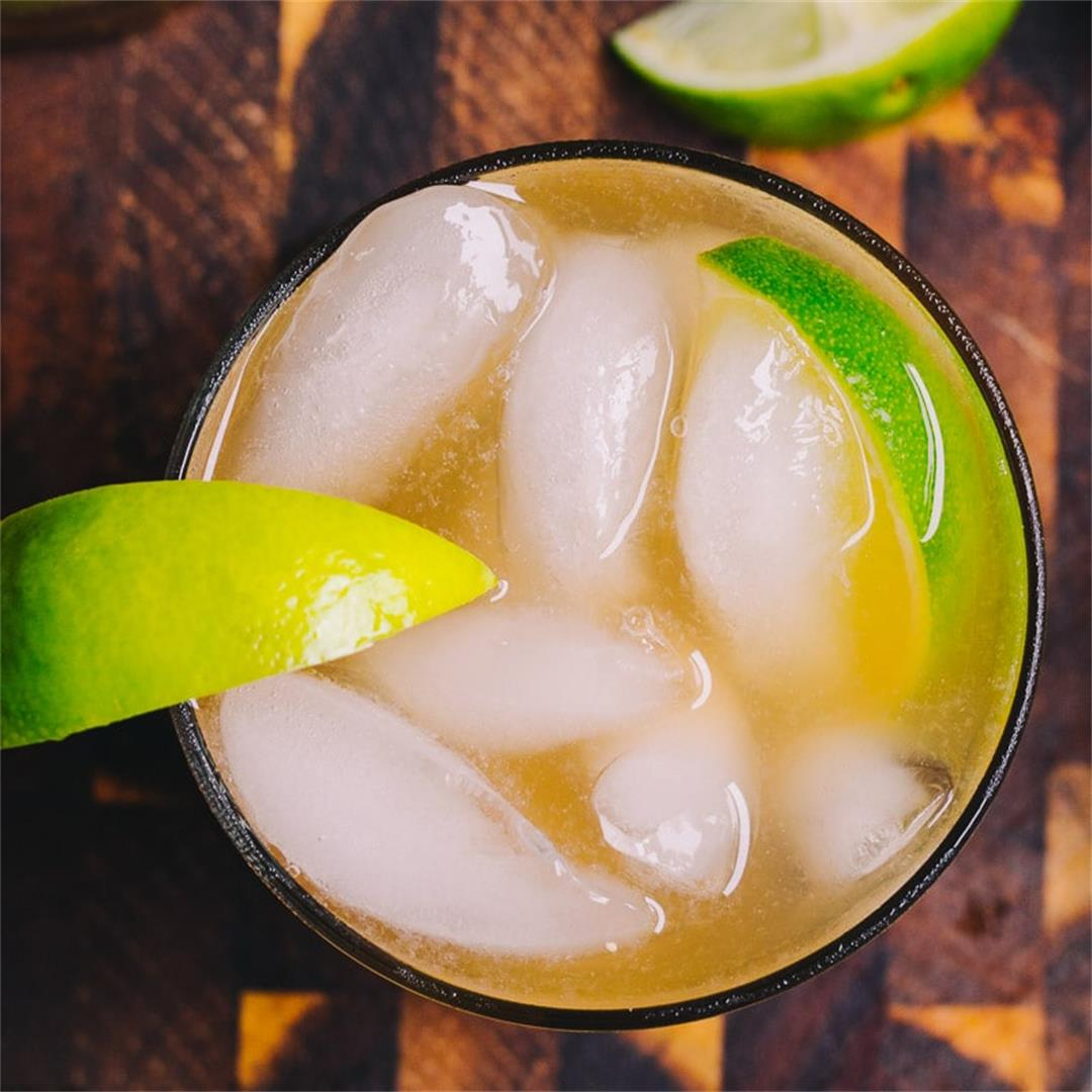 Sugar Free Dark and Stormy Cocktail