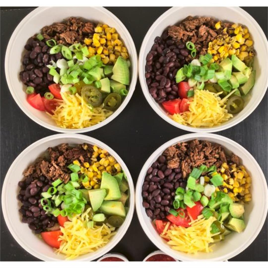 Spicy Beef and Black Bean Taco Salad