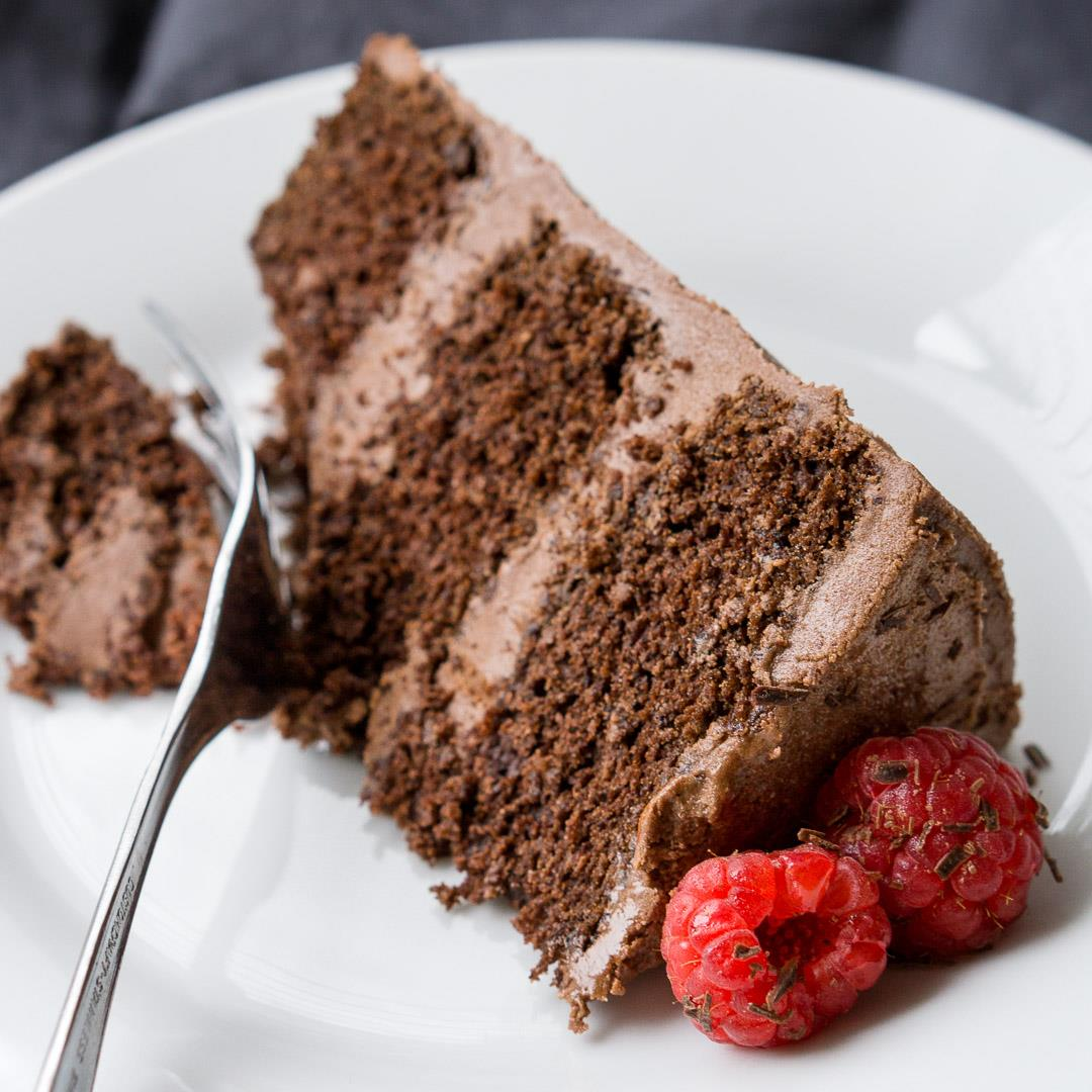 Chocolate and Coconut Layer Cake (Dairy-Free)