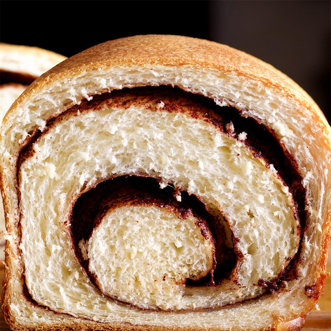 Homemade Cinnamon Bread with a Gooey Cinnamon Swirl