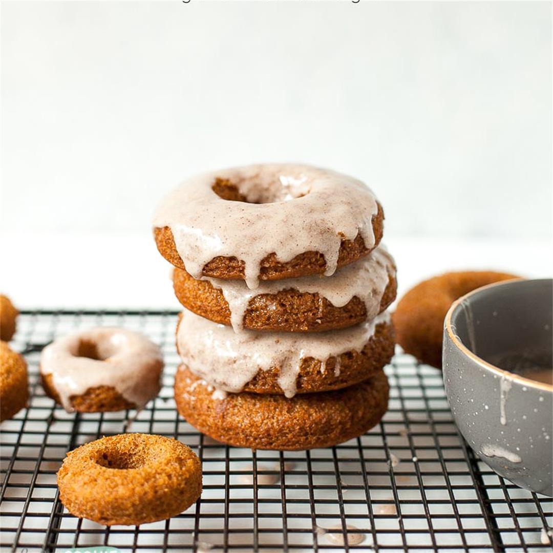 Gluten Free Pumpkin Donuts with Cinnamon Glaze