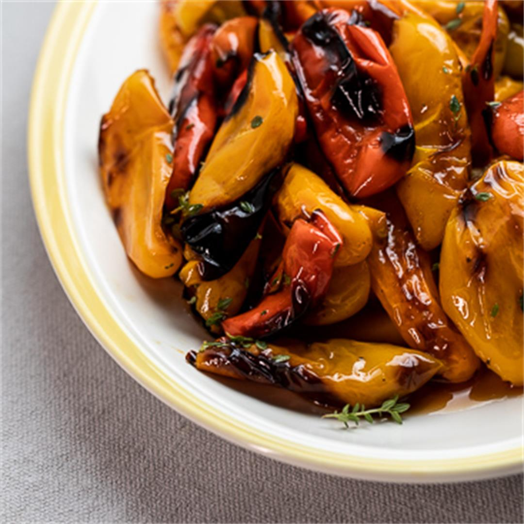 Sweet and Tangy Roasted Mini Peppers!