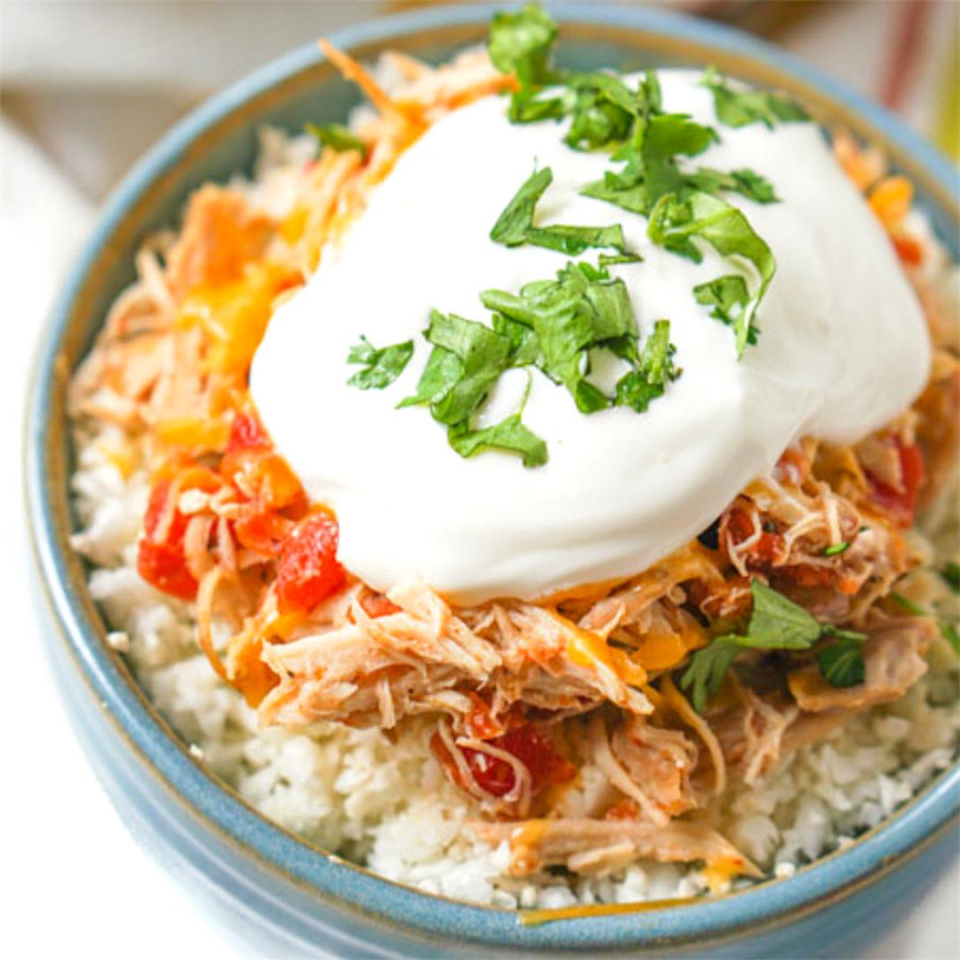 Low Carb Slow Cooker Salsa Chicken