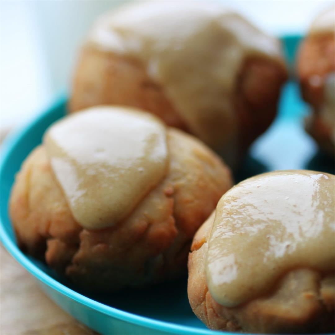 Vegan Caramel Apple Dough Balls Recipe (GF)
