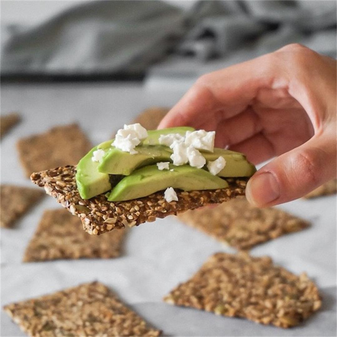 Keto Seed Crackers