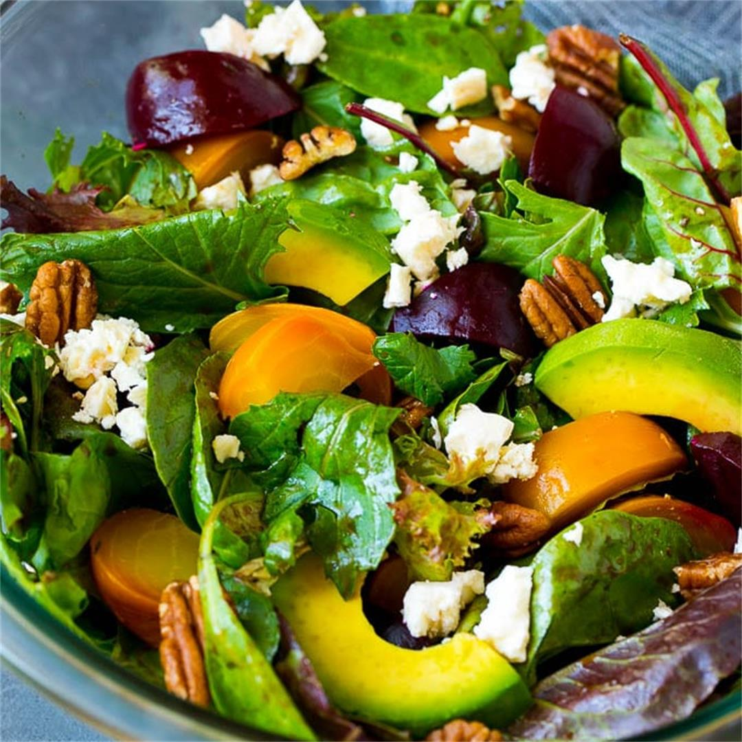 Beet Salad with Avocado and Feta