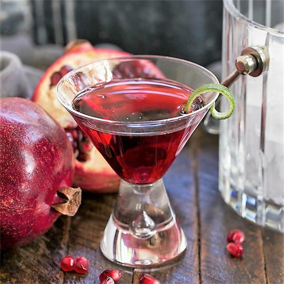 Pomegranate Cosmopolitan Cocktail