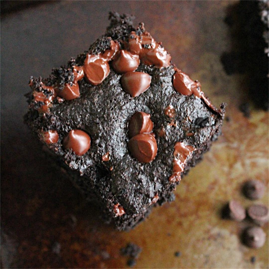 Whole Wheat Dark Chocolate Brownies