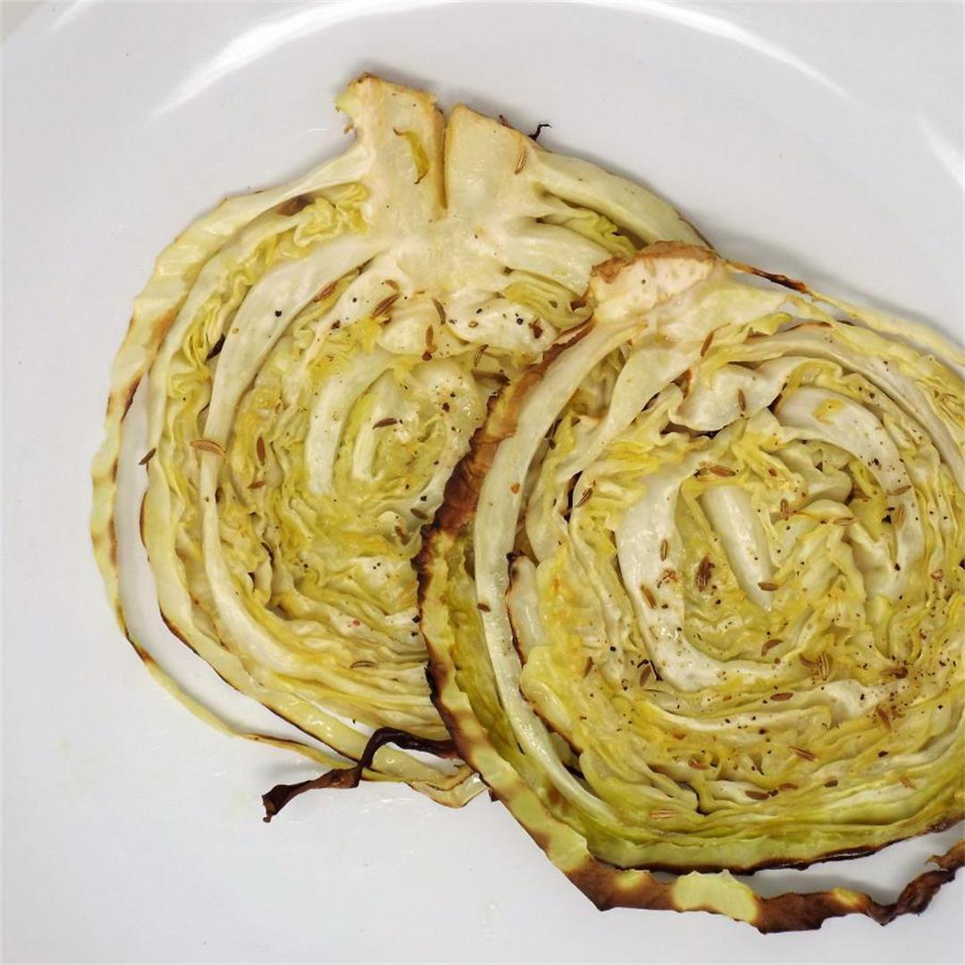 Roasted Cabbage with Fennel