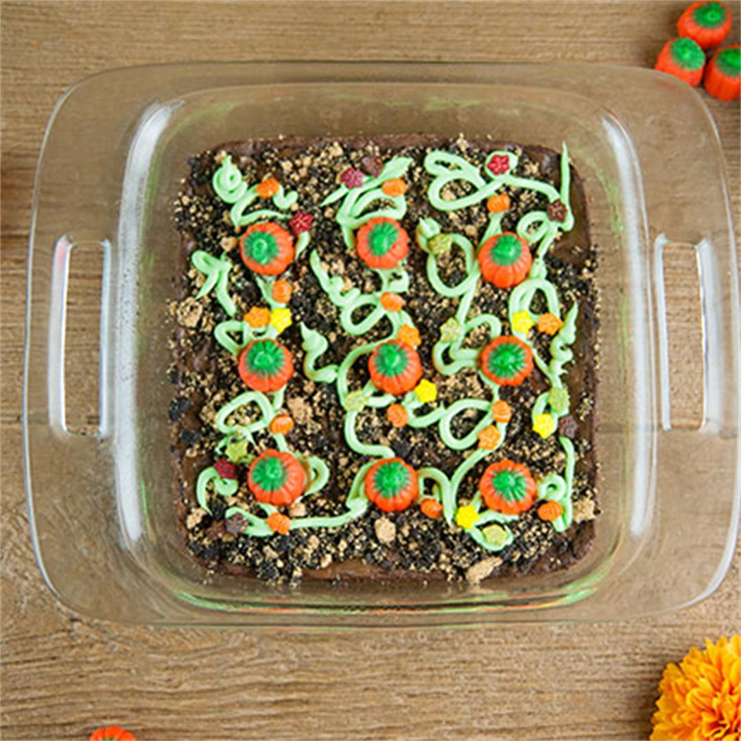 Easy Pumpkin Patch Brownies