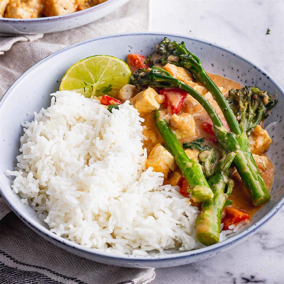 Peanut Curry with Tofu & Broccoli • The Cook Report