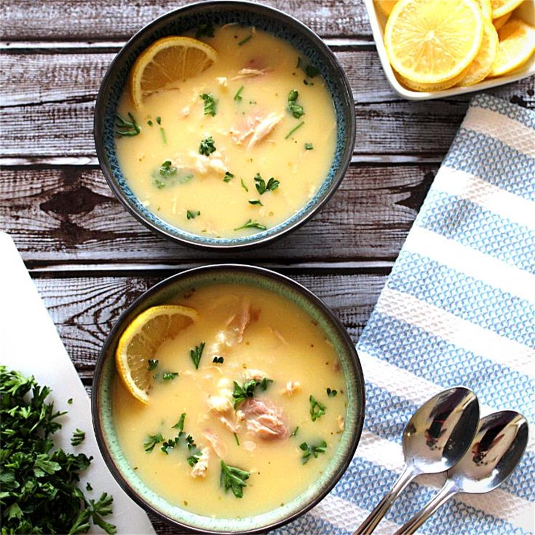 Chicken Lemon Rice Soup [Supe Pule]