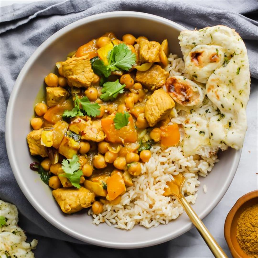 Chicken and Delicata Squash Curry