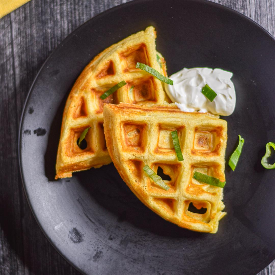 Corn Scallion Waffles