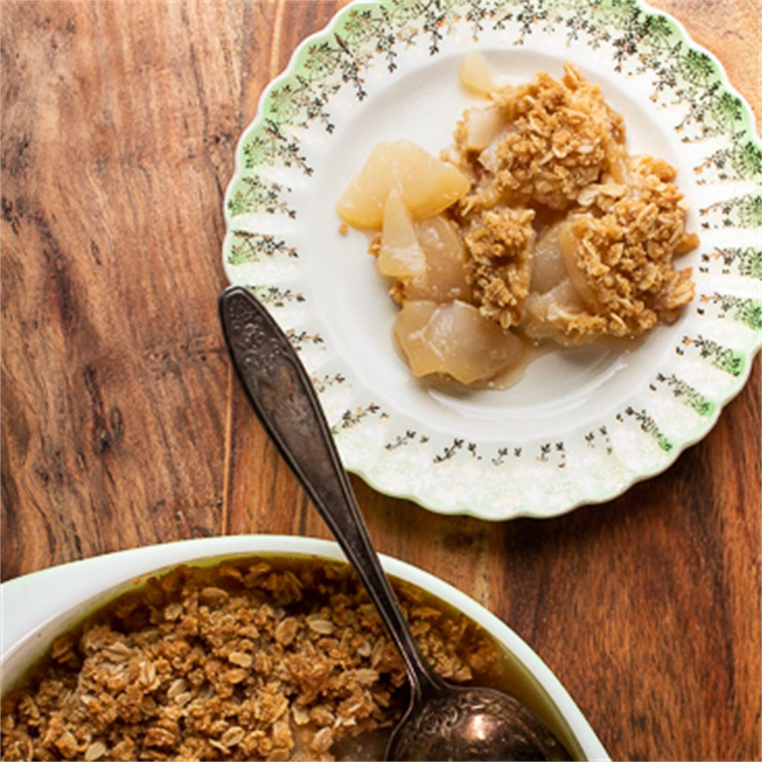 The Best! Easy Pear Crisp