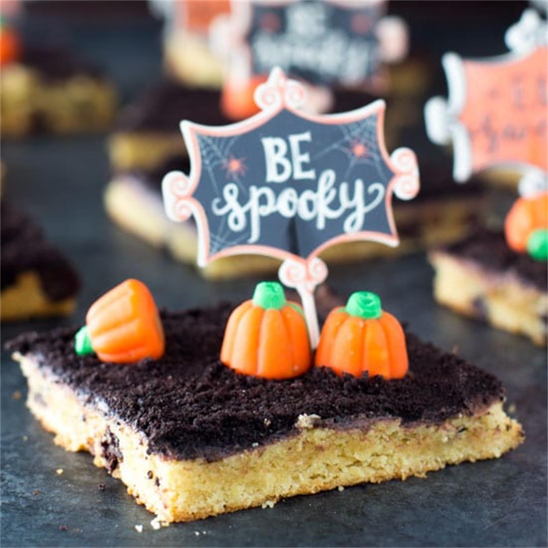 Sheet Pan Pumpkin Patch Halloween Cookies