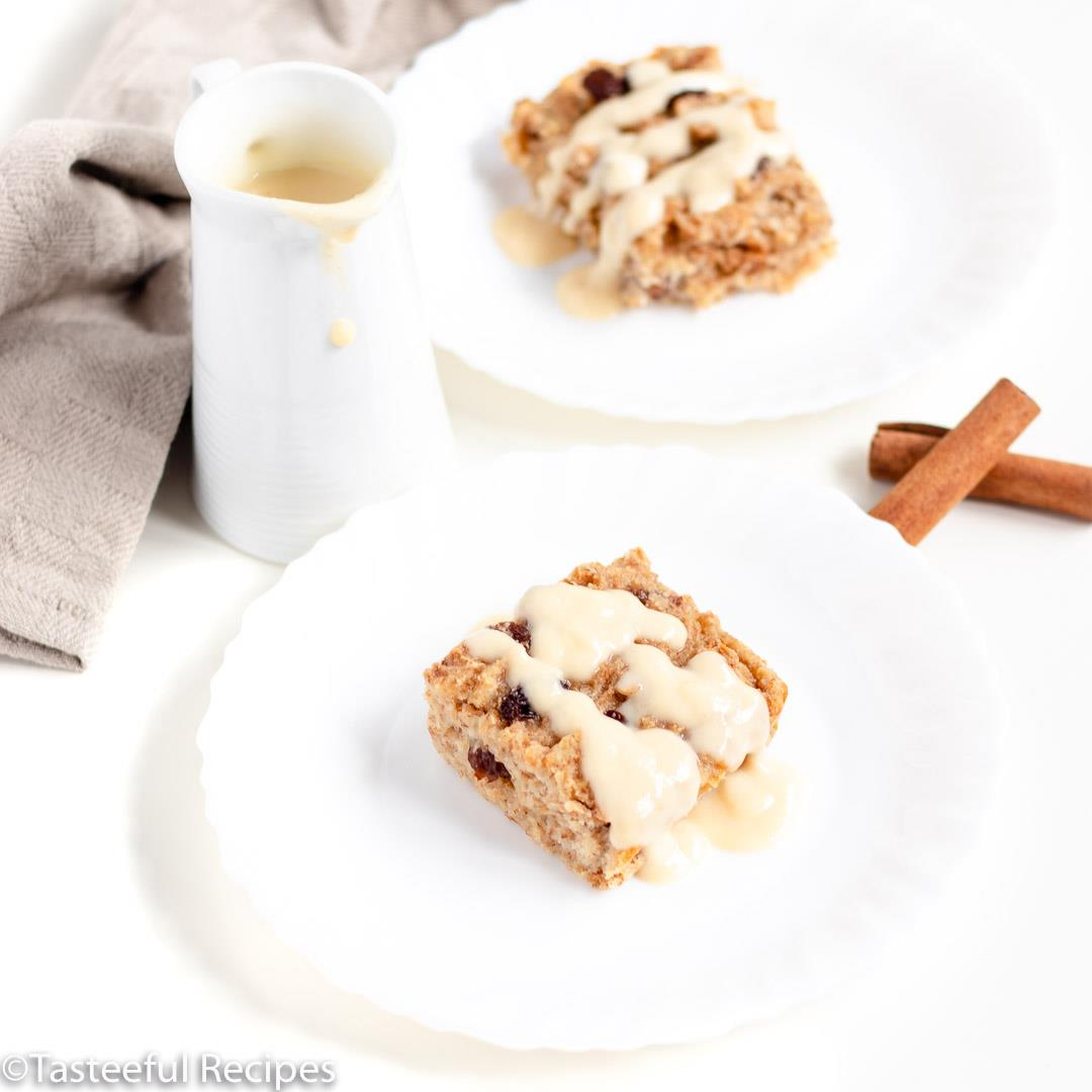 Caribbean-Style Bread Pudding & Rum Sauce
