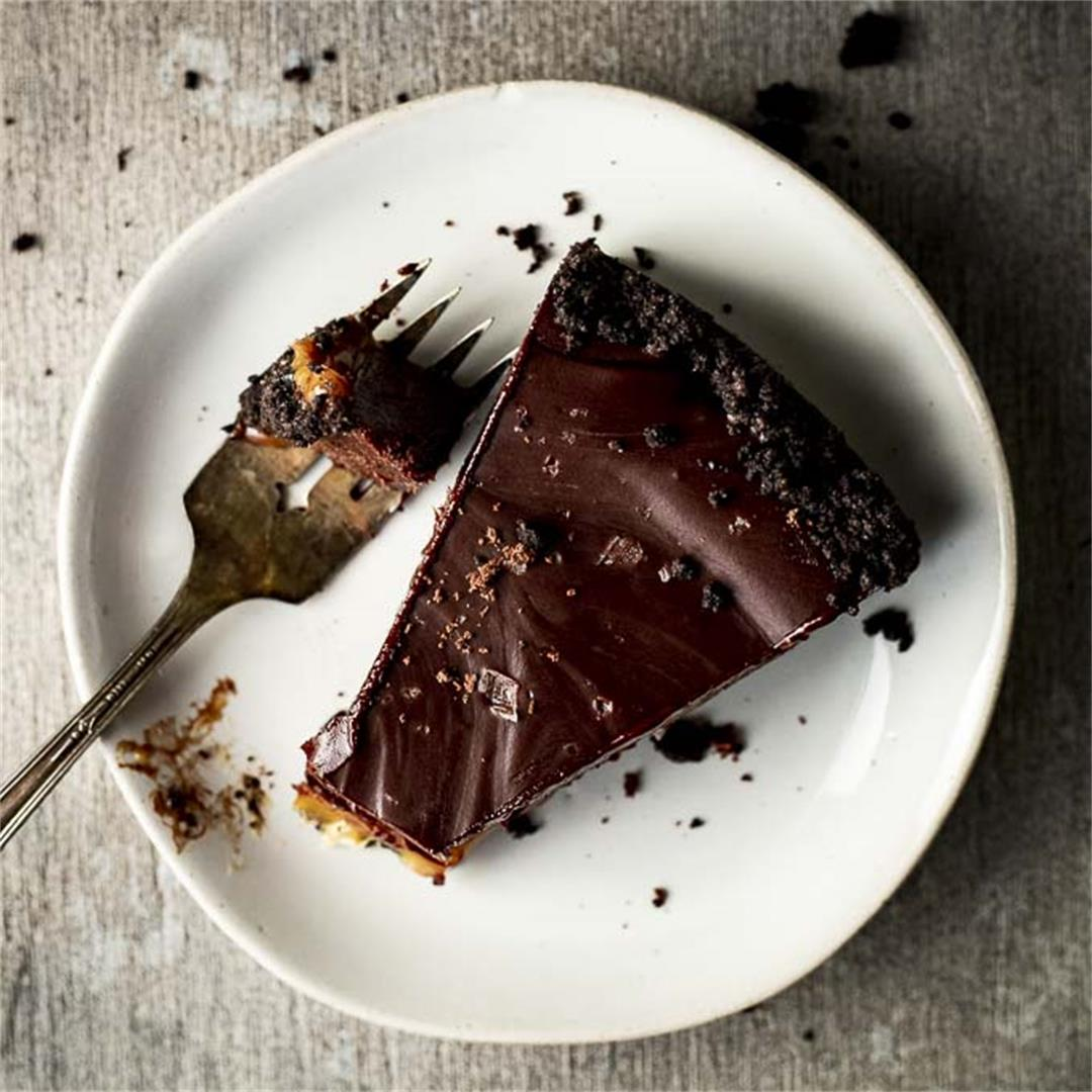 Chocolate Ganache Tart with Salted Caramel