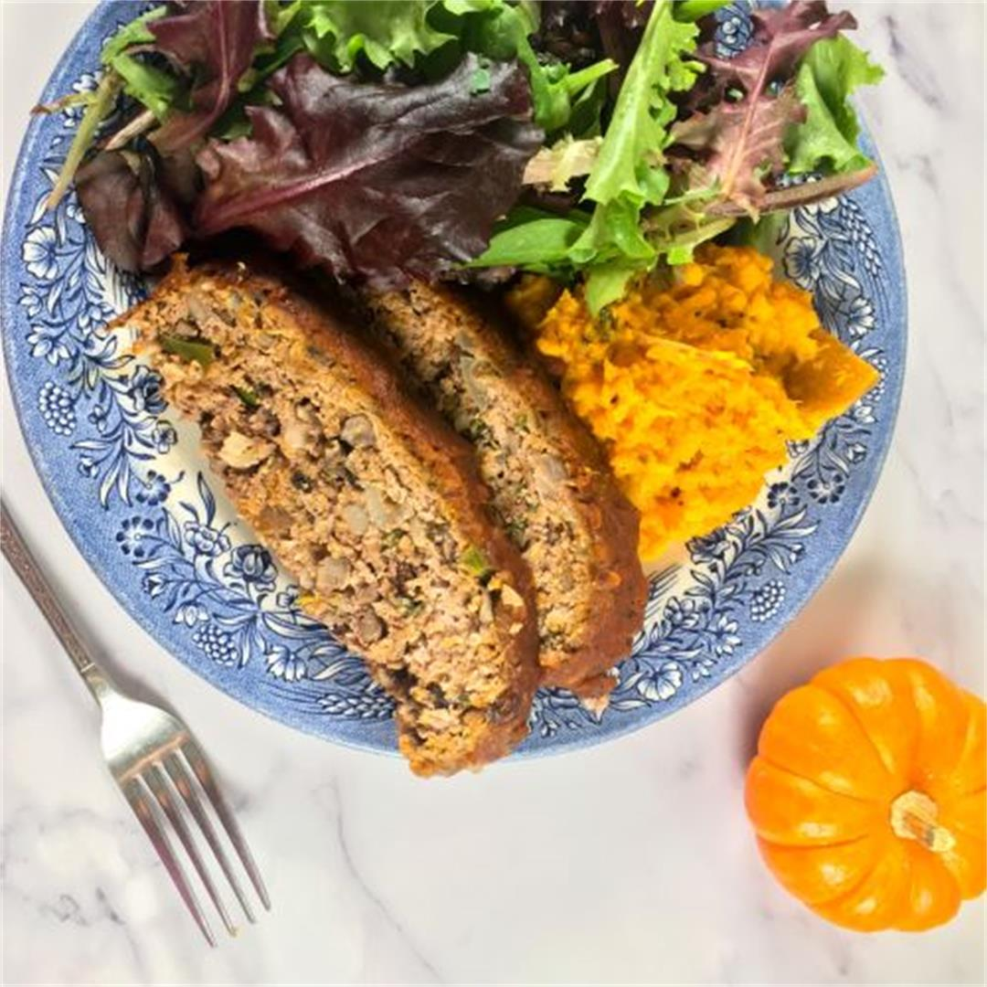 Pumpkin Barbecue Meatloaf Recipe with Sweet Potatoes