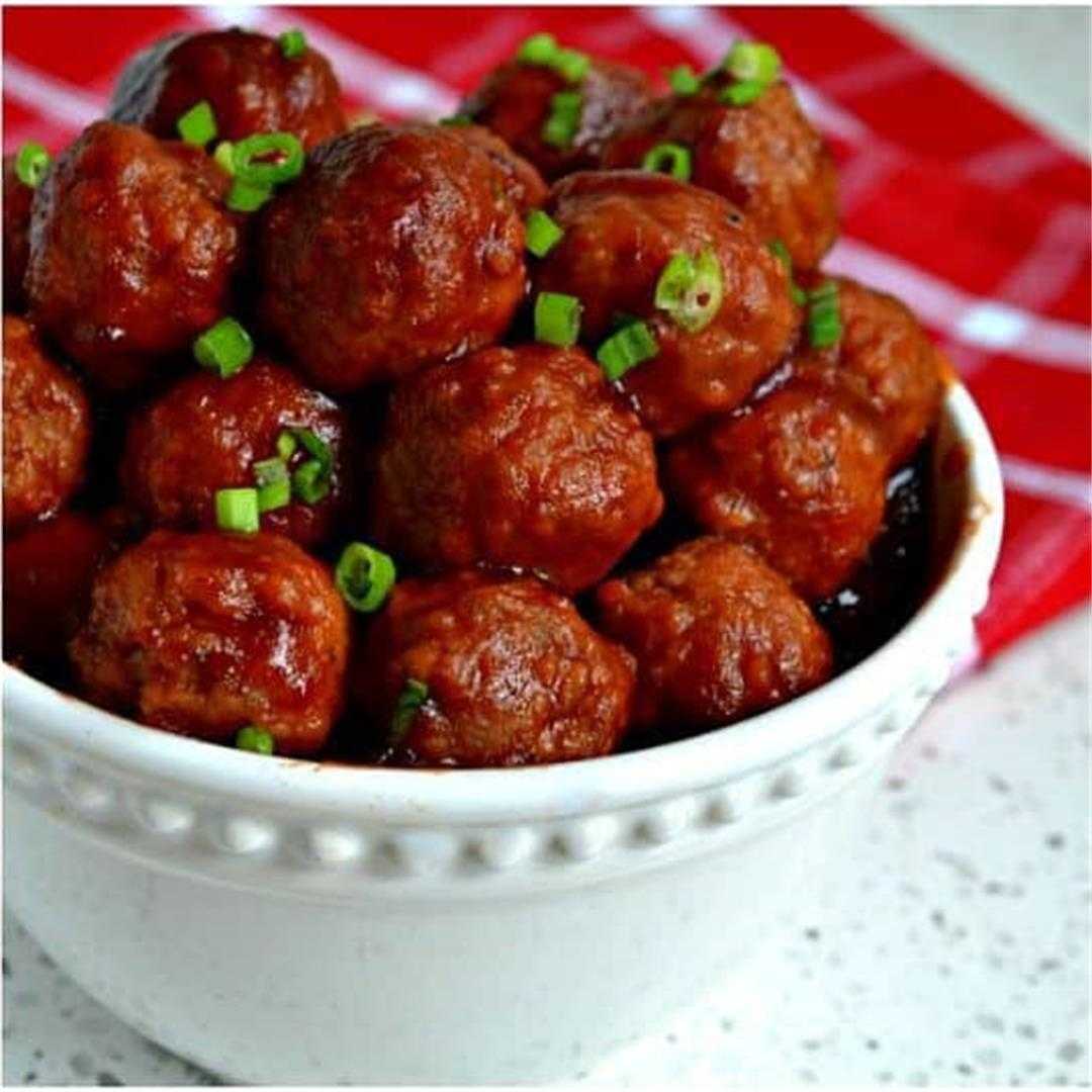 Crockpot Cranberry Meatballs