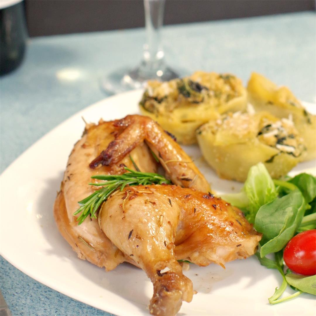 Cornish Hens with Rosemary Wine Sauce